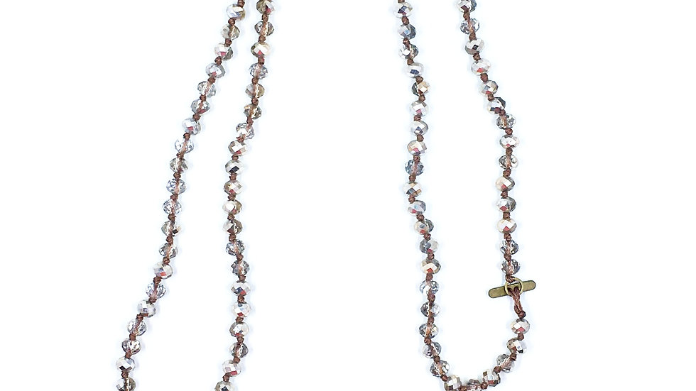 Beaded Faceted Necklace