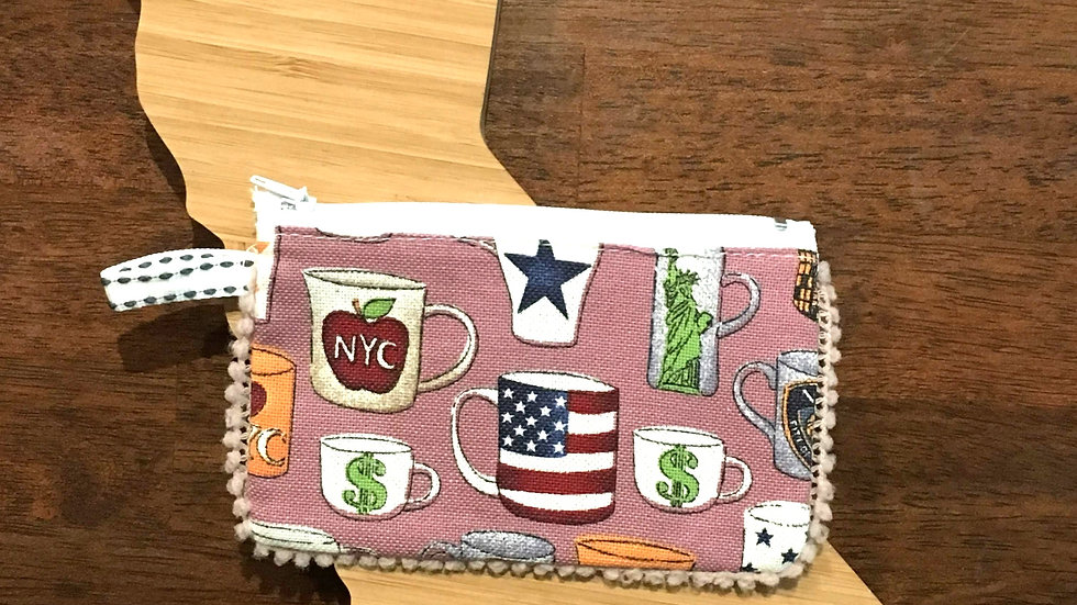 The Big Apple Handmade Fabric Coin Purse