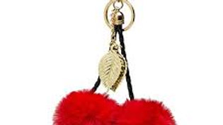 Double Red Pom Charm