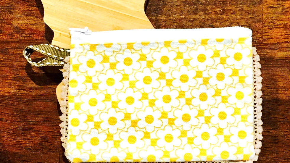 Merigold Floral Handmade Fabric Coin Purse