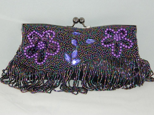Pearl Flower Beaded Clutch