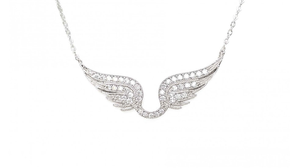 Pavé Angel Wings Necklace