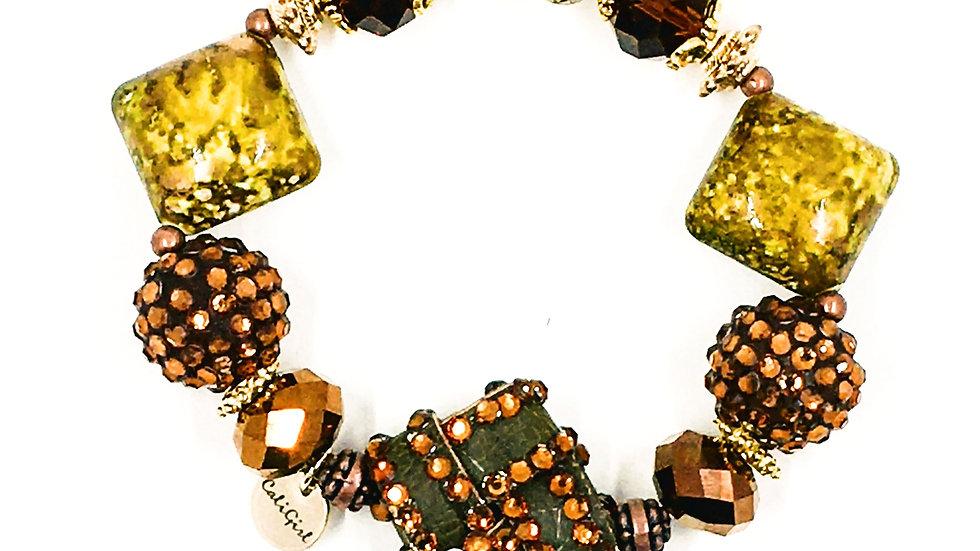 Emerald City Stretch Boho Bracelet