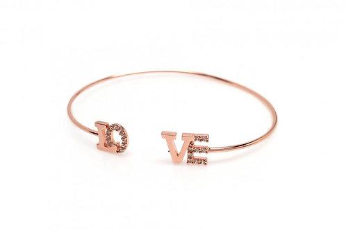 """PAVE """"LOVE""""BRACELET"""