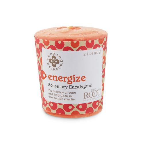 SEEKING BALANCE®  ENERGIZE 20 HOUR VOTIVE ROSEMARY EUCALYPTUS