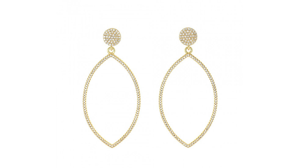 Hollow Marquise Earrings