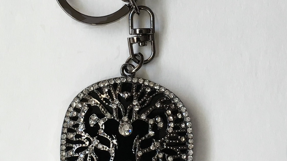 Lion  Rhinestone Purse Key Charm