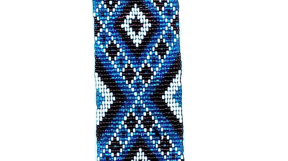 Loom Bracelet Blue and Brown