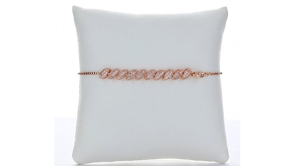 Slanted Oval Design,Chain Link Ankle Bracelet