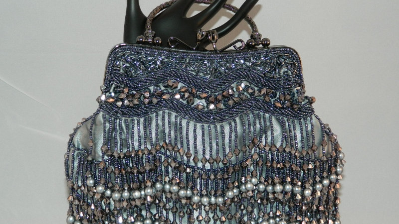 Fringe Vintage Beaded Clutch