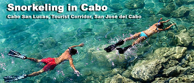 Cabo San Lucas Snorkeling Tour, Go to Land End, Lovers Beach, Los Cabos Bay and then end up snorkeling at the amazing Santa Maria Bay or Chileno Bay , many color fish and shallow water aboard one of our privte snorkeling cabo tours