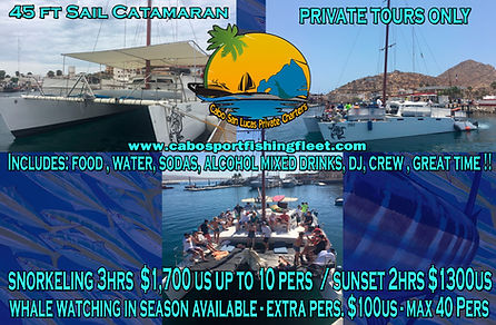 Private Catamaran cabo san lucas