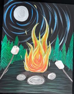 Campfire (Black Canvas)
