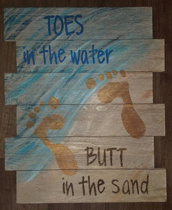 Toes in the Water $35