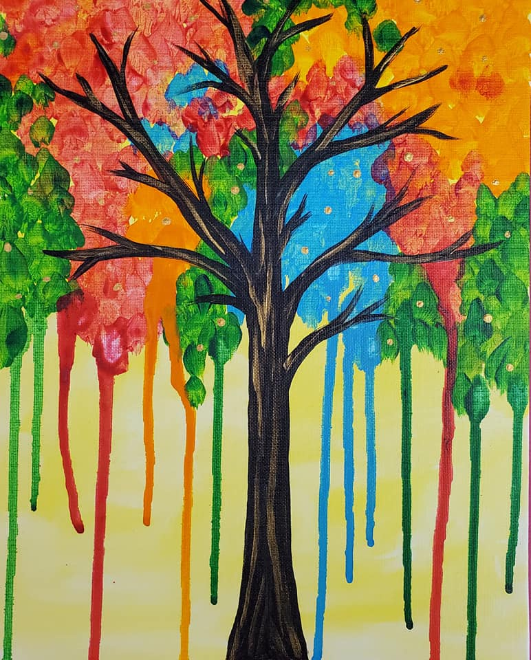 Color Drip Tree