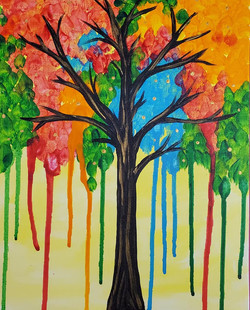 Color Drip Tree