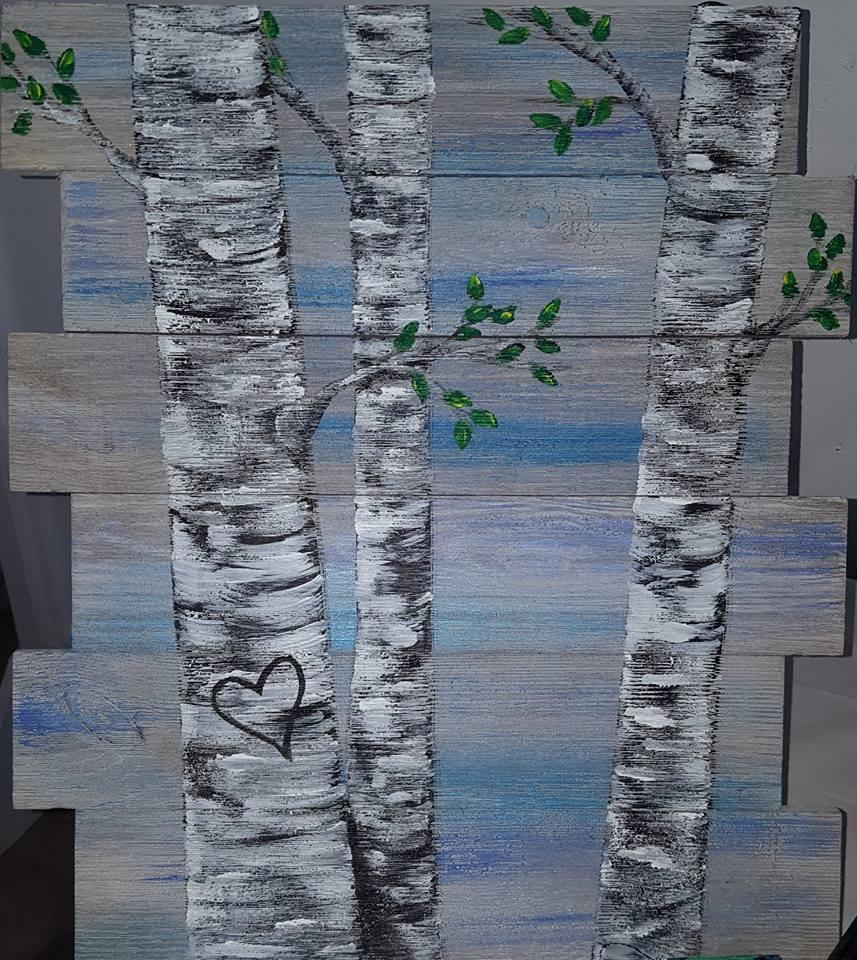 Birch Trees Pallet $35