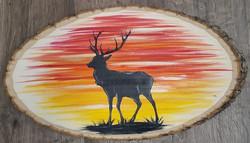 Elk on Basswood $30
