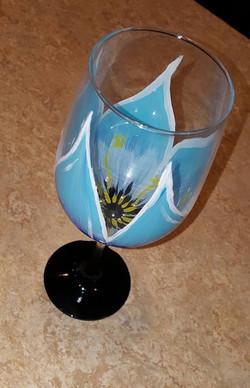 Blue Flower Glass