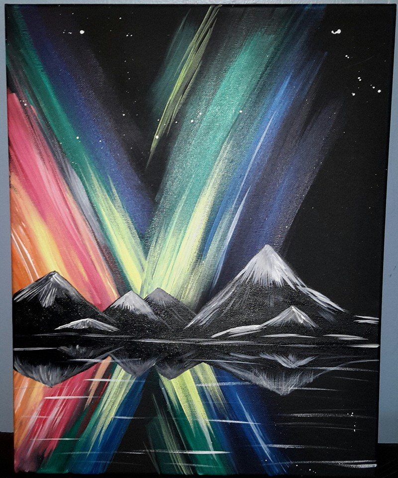 Northern Lights (Black Canvas)