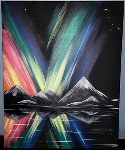 Northern Lights (Black Canvas)
