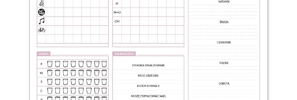 Tygodniowy planer-podkładka na biurko DIETETYCZNY