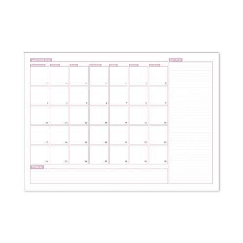 Miesięczny planer-podkładka na biurko