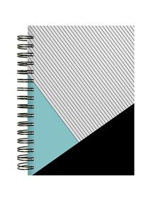 Notes-A4-B5-A5-B6-stripes-&-mint-&-black