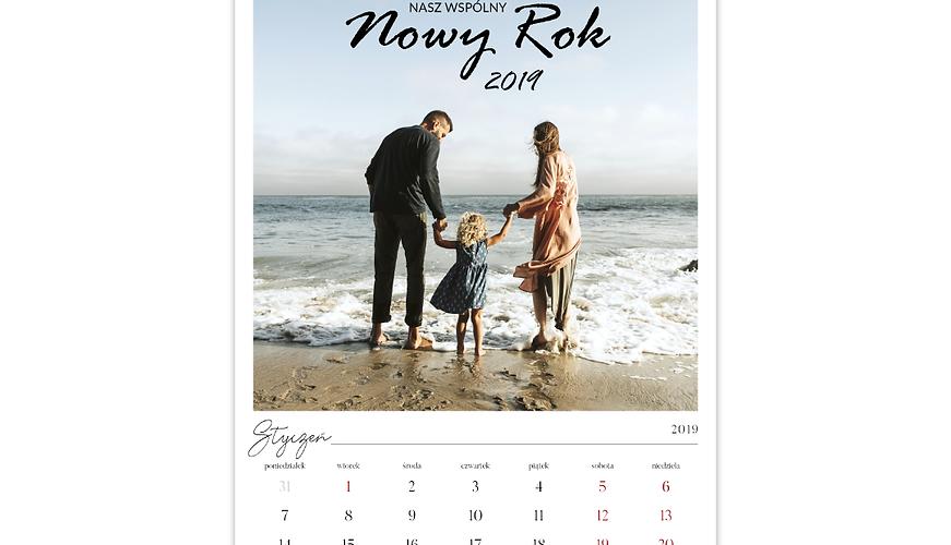 Personalizowany kalendarz ścienny