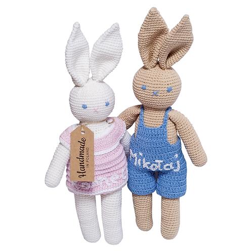 Personalizowane króliczki Udziergane