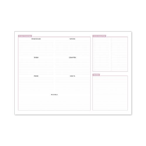 Tygodniowy planer-podkładka na biurko