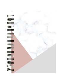 Notes-A4-B5-A5-B6-marble-&-rose-&-gray-t