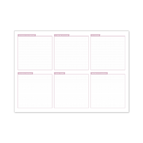 Tygodniowy planer-podkładka na biurko TOWARZYSKI