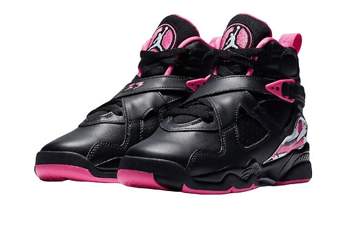 """Black/Pink"" Retro 8's    (Toddler)"