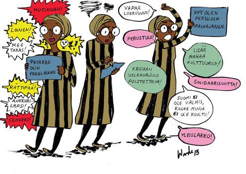 Kerran olin pakolainen sarjakuva 2015