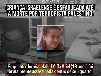 Adolescente israelense é morta a facadas em seu quarto por palestino