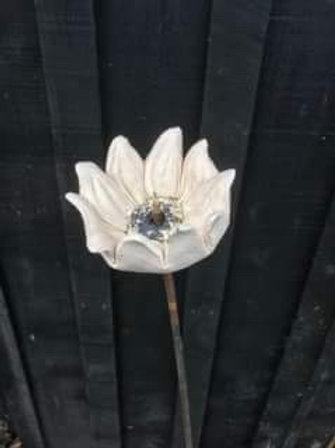 Ceramic Flower/Bird Feeder and Spike