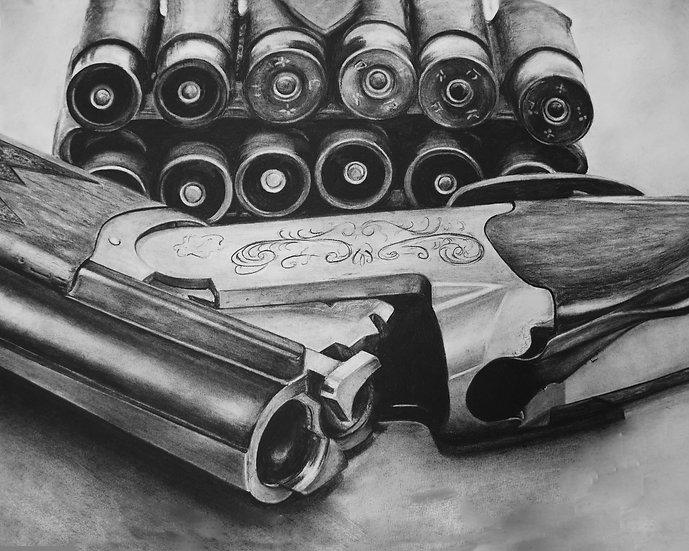 """""""Shotgun #2"""" Fine Art Print"""