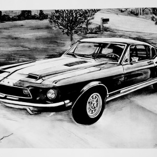 First Commissioned Car Drawing
