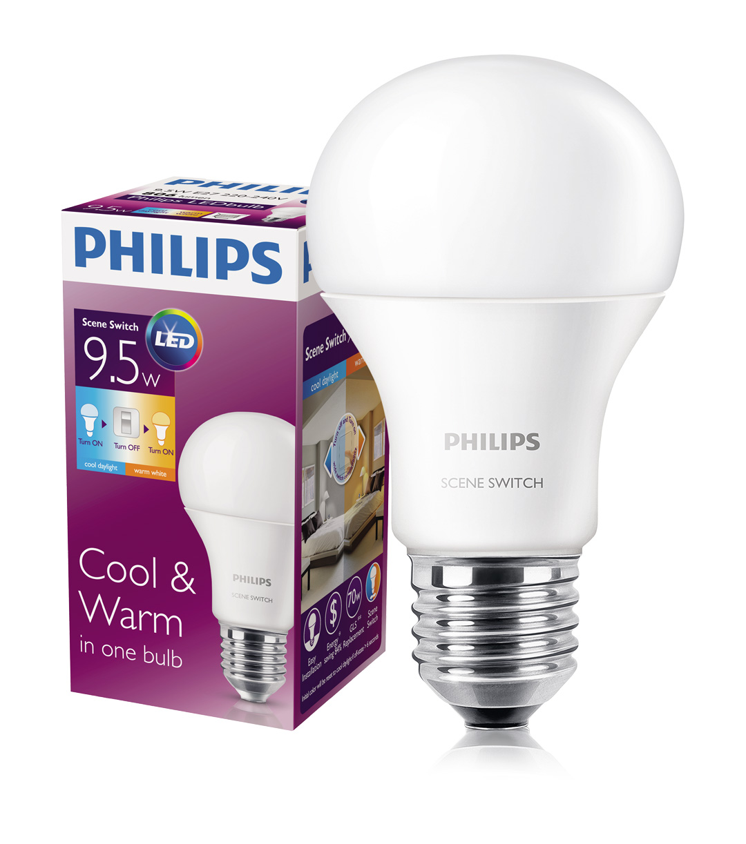 Scene switch philips   led dimmen instal