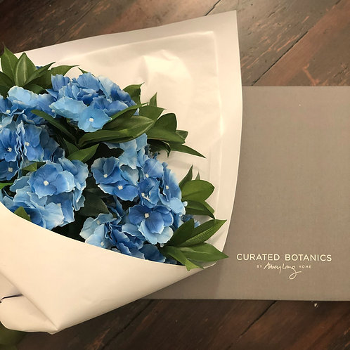 SUMMER BLUE HYDRANGEA BOUQUET (BOXED)