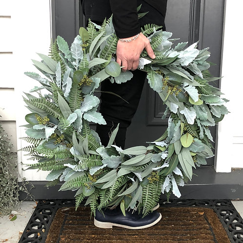 XL FERN WREATH (BOXED)