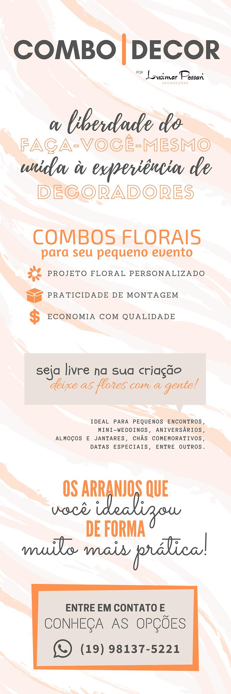 COMBO|DECOR | flores sob demanda para pequenos eventos e consultoria em decoração | Lucimar Possari Decorações