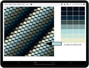 12.9-inch iPad Pro - build palettes from
