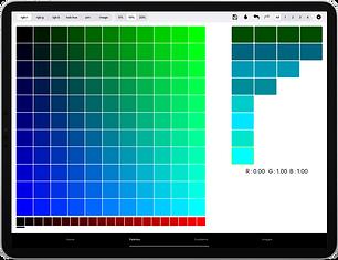 12.9-inch iPad Pro - palette from picker