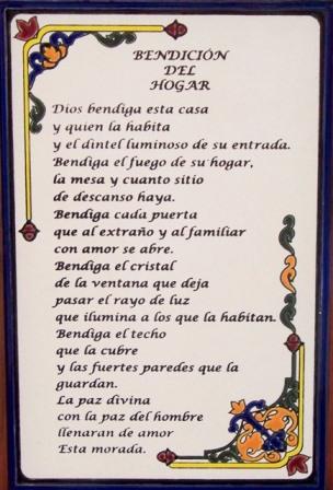 Oración Bendición del Hogar