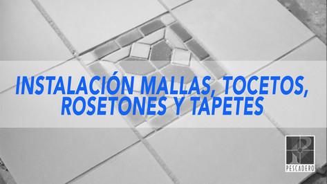 MALLAS TOCETOS ROSETONES Y TAPETES