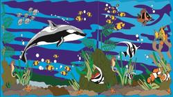 Mural Pacífico (Fondo de Piscina)