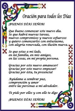 Oración para todos los días