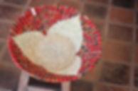 Handmade Fair Trade Home Decor red Kitenge Fruit Bowl